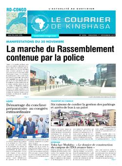 Les Dépêches de Brazzaville : Édition le courrier de kinshasa du 01 décembre 2017