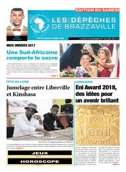 Les Dépêches de Brazzaville : Édition du 6e jour du 02 décembre 2017