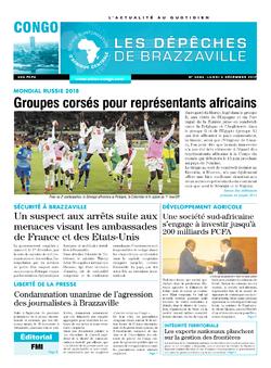 Les Dépêches de Brazzaville : Édition brazzaville du 04 décembre 2017