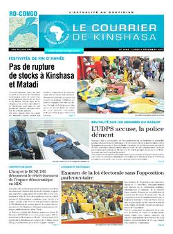 Les Dépêches de Brazzaville : Édition le courrier de kinshasa du 04 décembre 2017