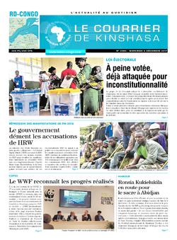 Les Dépêches de Brazzaville : Édition le courrier de kinshasa du 06 décembre 2017