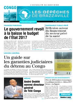 Les Dépêches de Brazzaville : Édition brazzaville du 07 décembre 2017