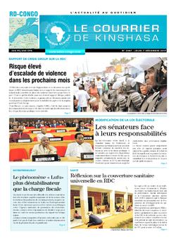 Les Dépêches de Brazzaville : Édition le courrier de kinshasa du 07 décembre 2017