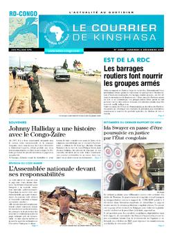 Les Dépêches de Brazzaville : Édition le courrier de kinshasa du 08 décembre 2017