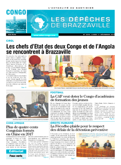 Les Dépêches de Brazzaville : Édition brazzaville du 11 décembre 2017