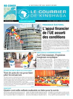 Les Dépêches de Brazzaville : Édition le courrier de kinshasa du 13 décembre 2017