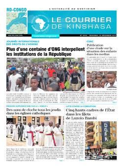 Les Dépêches de Brazzaville : Édition le courrier de kinshasa du 15 décembre 2017