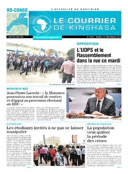 Les Dépêches de Brazzaville : Édition brazzaville du 19 décembre 2017