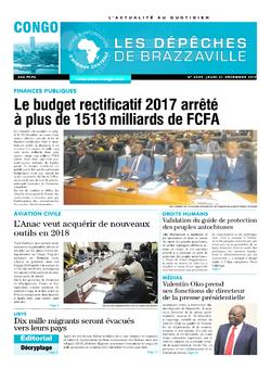 Les Dépêches de Brazzaville : Édition brazzaville du 21 décembre 2017