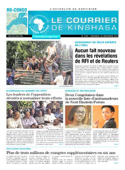 Les Dépêches de Brazzaville : Édition brazzaville du 22 décembre 2017