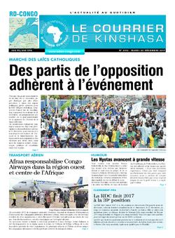 Les Dépêches de Brazzaville : Édition brazzaville du 26 décembre 2017