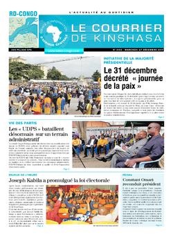 Les Dépêches de Brazzaville : Édition brazzaville du 27 décembre 2017