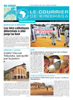 Les Dépêches de Brazzaville : Édition brazzaville du 28 décembre 2017