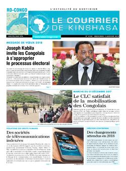 Les Dépêches de Brazzaville : Édition brazzaville du 03 janvier 2018