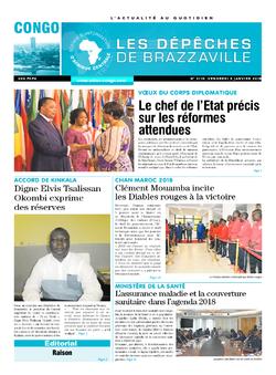Les Dépêches de Brazzaville : Édition brazzaville du 05 janvier 2018