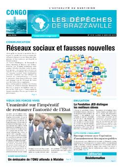 Les Dépêches de Brazzaville : Édition brazzaville du 08 janvier 2018