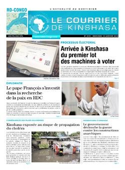 Les Dépêches de Brazzaville : Édition brazzaville du 10 janvier 2018