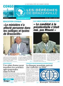 Les Dépêches de Brazzaville : Édition brazzaville du 11 janvier 2018