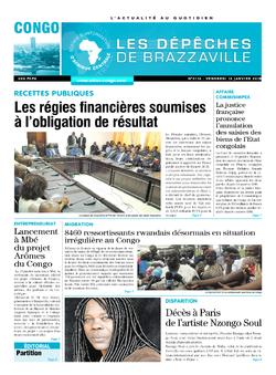 Les Dépêches de Brazzaville : Édition brazzaville du 12 janvier 2018