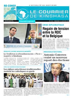 Les Dépêches de Brazzaville : Édition le courrier de kinshasa du 12 janvier 2018