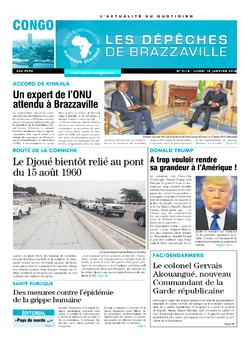 Les Dépêches de Brazzaville : Édition brazzaville du 15 janvier 2018