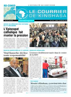 Les Dépêches de Brazzaville : Édition le courrier de kinshasa du 15 janvier 2018