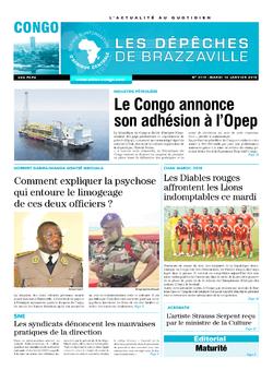 Les Dépêches de Brazzaville : Édition brazzaville du 16 janvier 2018