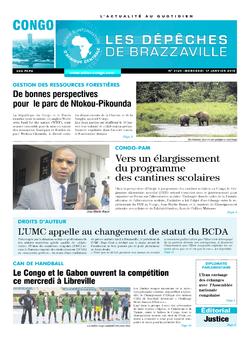 Les Dépêches de Brazzaville : Édition brazzaville du 17 janvier 2018