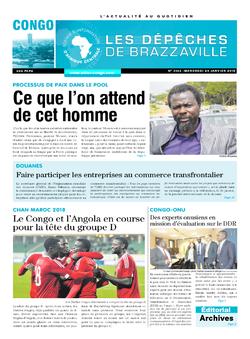 Les Dépêches de Brazzaville : Édition brazzaville du 24 janvier 2018