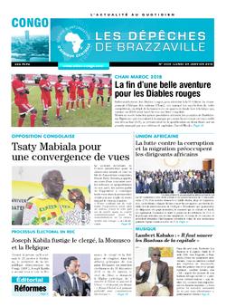 Les Dépêches de Brazzaville : Édition brazzaville du 29 janvier 2018