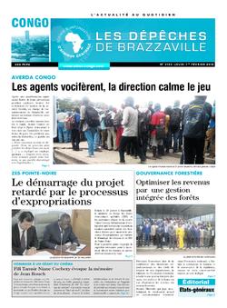 Les Dépêches de Brazzaville : Édition brazzaville du 01 février 2018