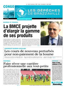 Les Dépêches de Brazzaville : Édition brazzaville du 06 février 2018