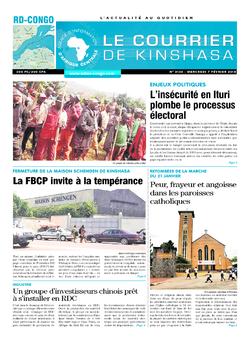 Les Dépêches de Brazzaville : Édition le courrier de kinshasa du 07 février 2018