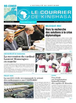 Les Dépêches de Brazzaville : Édition le courrier de kinshasa du 08 février 2018