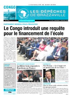 Les Dépêches de Brazzaville : Édition brazzaville du 09 février 2018
