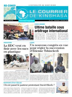 Les Dépêches de Brazzaville : Édition le courrier de kinshasa du 09 février 2018