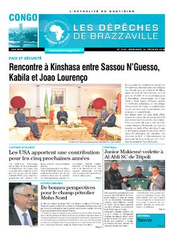Les Dépêches de Brazzaville : Édition brazzaville du 14 février 2018