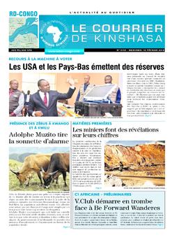 Les Dépêches de Brazzaville : Édition le courrier de kinshasa du 14 février 2018