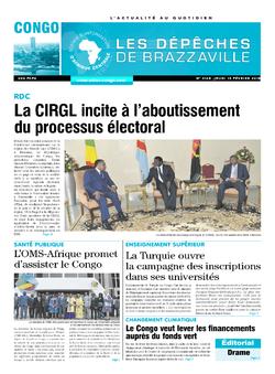 Les Dépêches de Brazzaville : Édition brazzaville du 15 février 2018