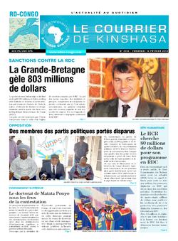 Les Dépêches de Brazzaville : Édition le courrier de kinshasa du 16 février 2018