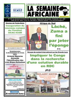 Les Dépêches de Brazzaville : Édition le courrier de kinshasa du 17 février 2018