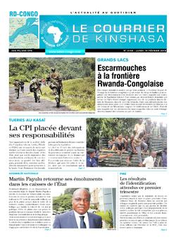 Les Dépêches de Brazzaville : Édition le courrier de kinshasa du 19 février 2018