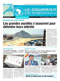 Les Dépêches de Brazzaville : Édition le courrier de kinshasa du 21 février 2018
