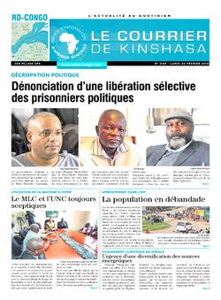 Les Dépêches de Brazzaville : Édition le courrier de kinshasa du 26 février 2018