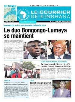 Les Dépêches de Brazzaville : Édition le courrier de kinshasa du 28 février 2018