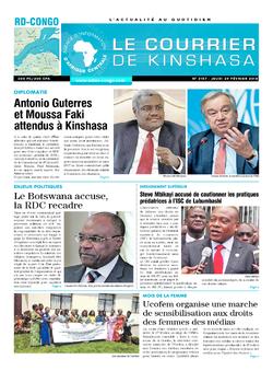 Les Dépêches de Brazzaville : Édition le courrier de kinshasa du 01 mars 2018
