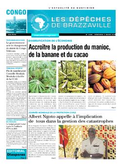Les Dépêches de Brazzaville : Édition brazzaville du 02 mars 2018