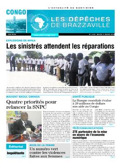 Les Dépêches de Brazzaville : Édition brazzaville du 06 mars 2018