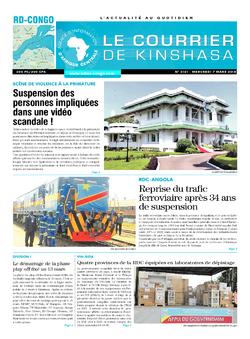Les Dépêches de Brazzaville : Édition brazzaville du 07 mars 2018
