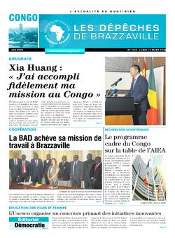 Les Dépêches de Brazzaville : Édition brazzaville du 12 mars 2018